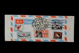 Vintage 'Air Mail' Clothing Patch